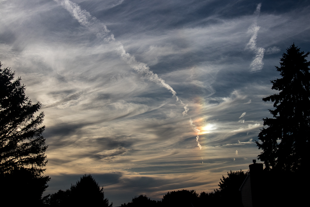 Did you see the sundog this evening?