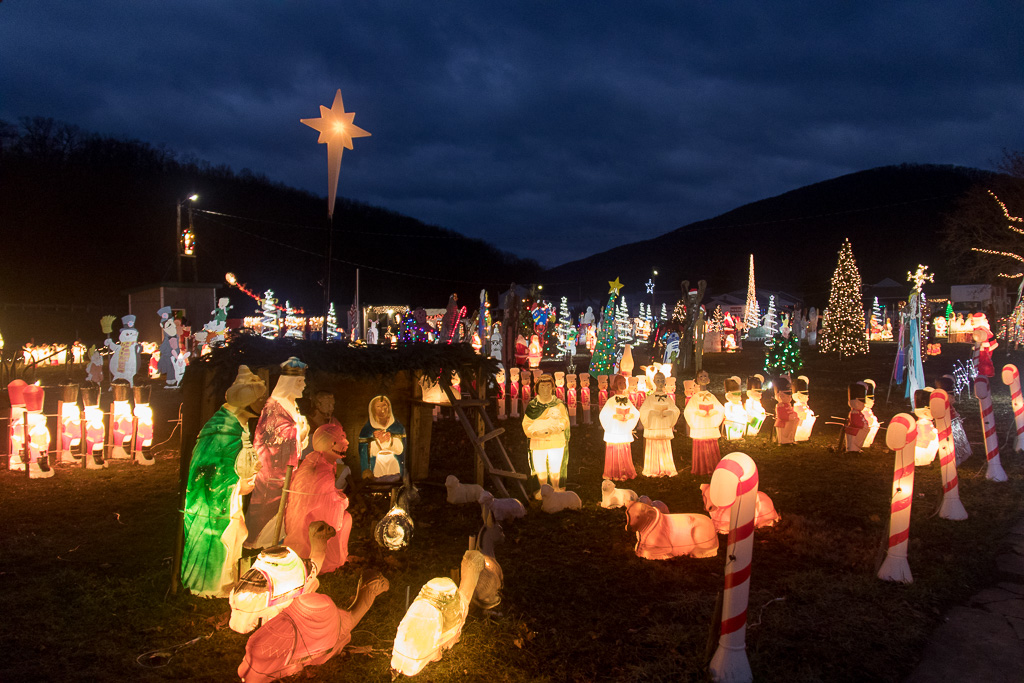 Holiday Lights at Weis Soccer Field in Shamokin, PA